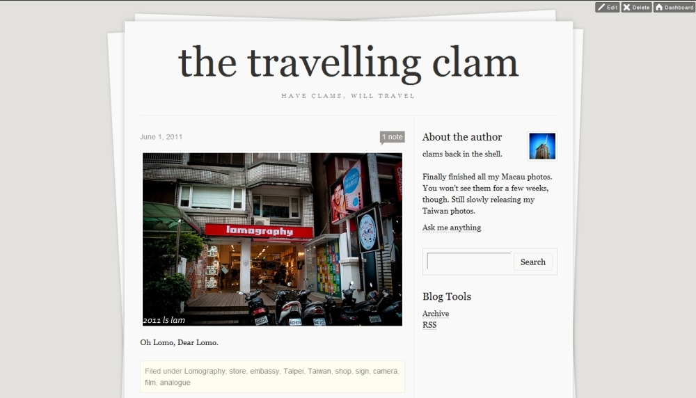 the travelling clam