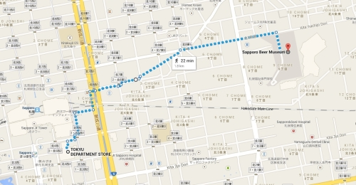 tokyu to sapporo beer museum