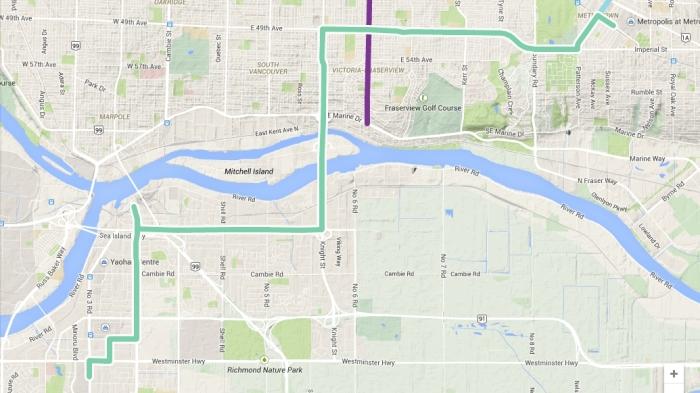 richmond-metrotown bline map