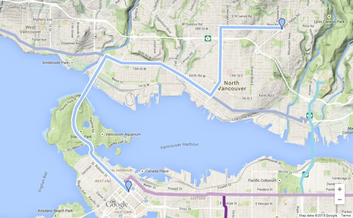 lynn valley to downtown bline map