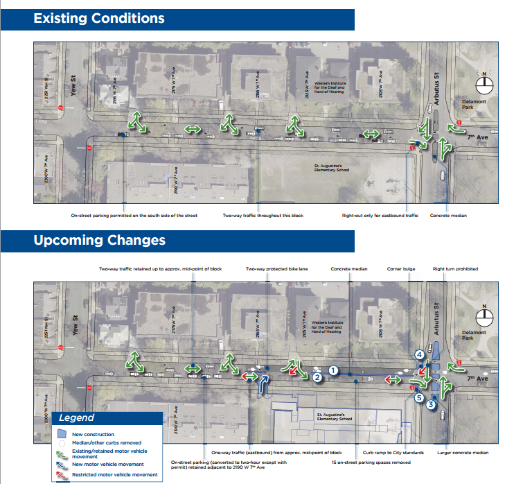 arbutus & w 7th improvement graphic
