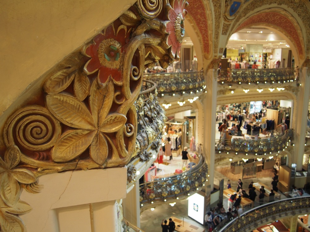 the upper floors of Galeries Lafayette