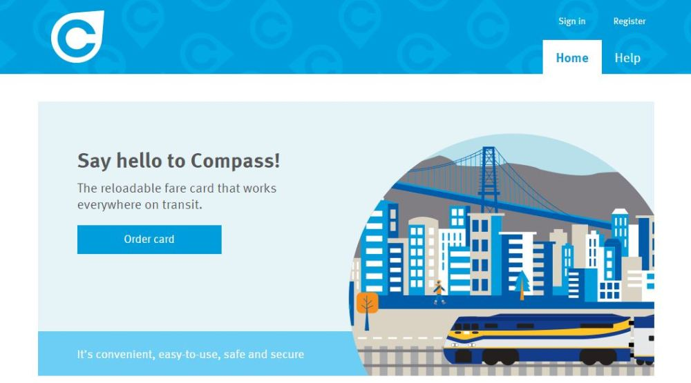 compass card homepage