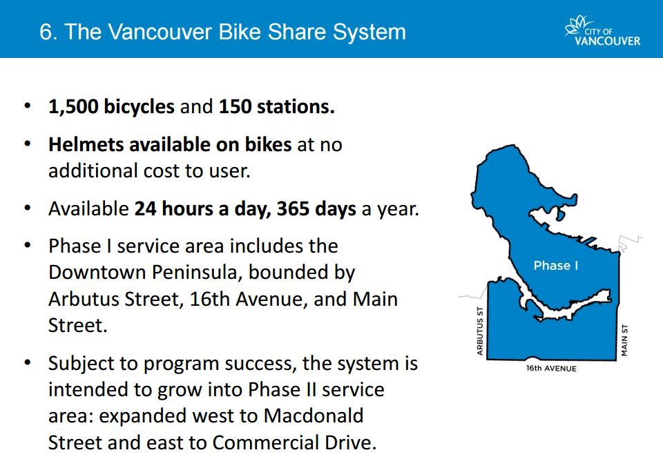 Vancouver Bike Share Phase 1 Map